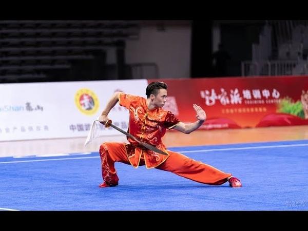Men's Daoshu 男子刀术 第1名 江苏队 吴照华 9.84分 2019年全国武术套路锦标赛(男子赛区) wushu