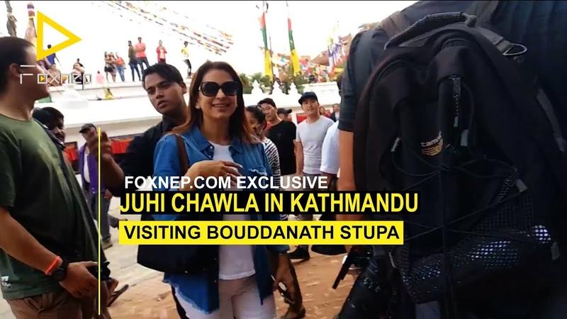 Juhi Chawla in Kathmandu visiting Bouddhanath Stupa Exclusive