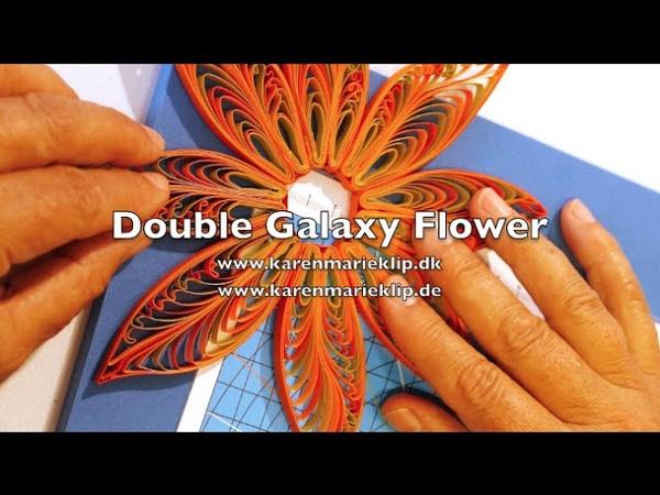 Quilling - Double Galaxy Flower - Karen Marie Klip Papir
