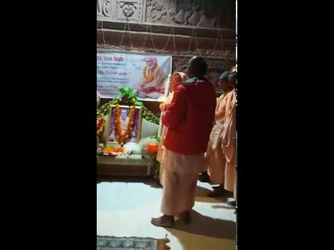 BV Sridhar Maharaj - 02.11.2018, morning Guru arati at Sri Gopinath Bhavan