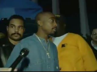 Tupac & Suge Knight at Lakers Game Together in LA