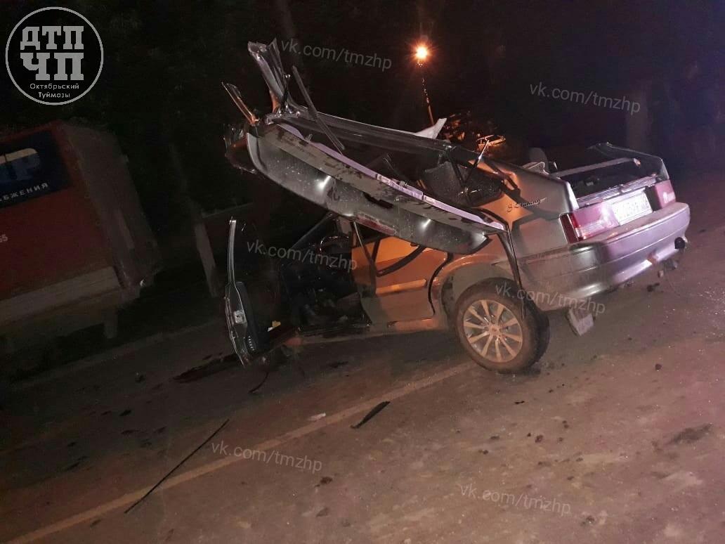 В Башкирии пьяный лихач на ВАЗ-2114 протаранил грузовую ГАЗель