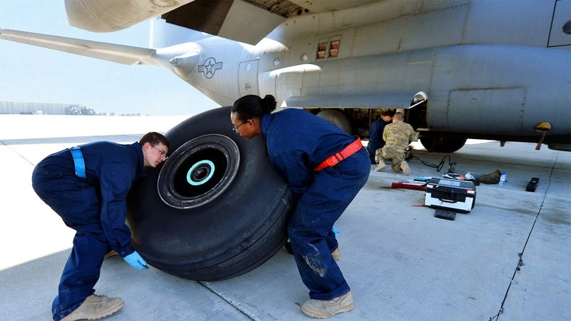 Wheel Replacement on a $180 Millions Aircraft F-35 and C-130 Wheel and Tyre Repair