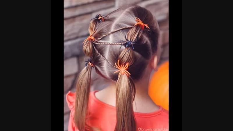 Осенняя прическа для девочки
