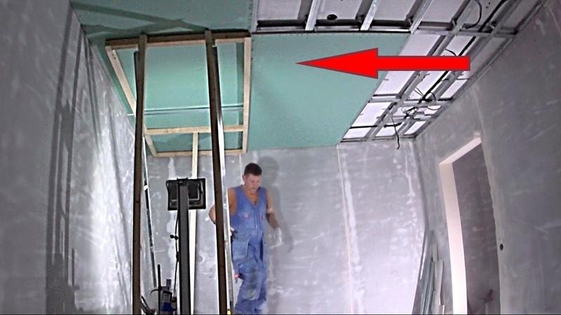 Подъёмник для гипсокартона своими руками Потолок из гипсокартона
