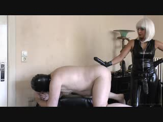 Absolute femdom strap-on trained cuckold