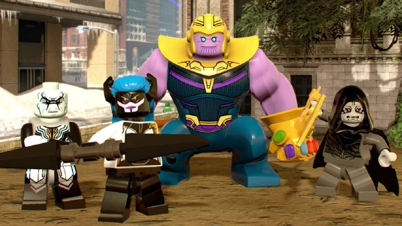 Thanos All Black Order Characters - Avengers: Infinity War Movie DLC - LEGO Marvel Super Heroes 2