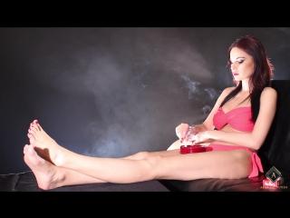 Abbie Cat smoking in bikini