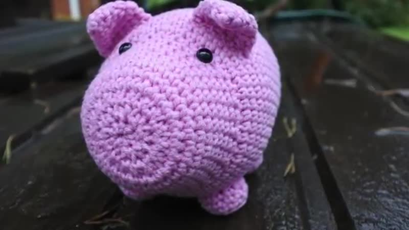 Описание свинки крючком Мастер класс по вязанию Свинка копилка амигуруми В