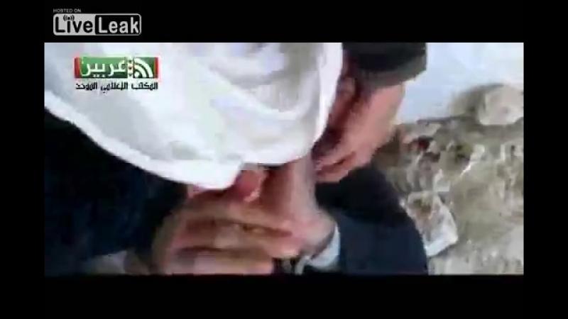 Liveleakcom - Assad Syrian Soldier Bayonet bound m.mp4