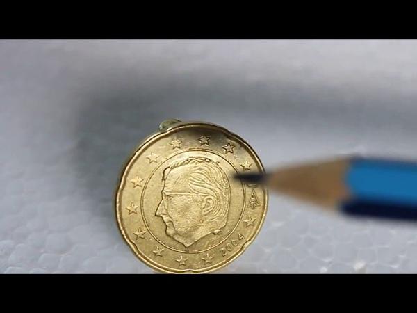 Error Coin! Pimples on a 20 Cent Belgium Euro coin.