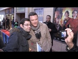 Luke Evans share some love with his fans on the red carpet in Paris