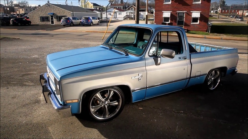 Pearl Snap 1985 Slammed Squarebody C10, Patina Hot Rat Street Rod FOR SALE!