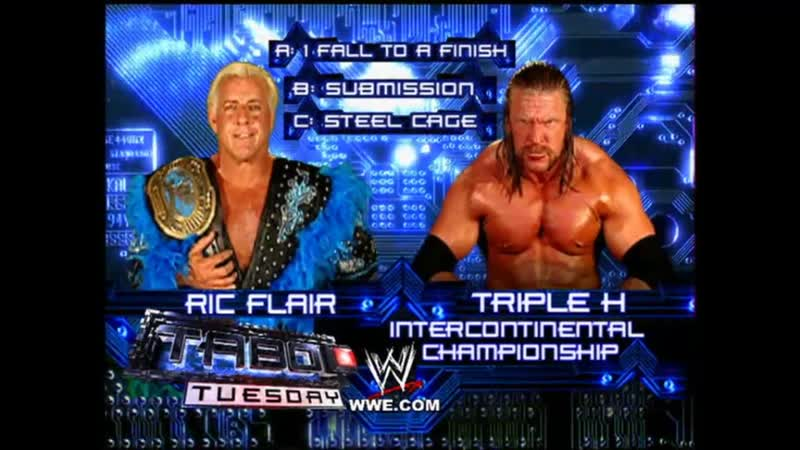 Ric Flair Vs Triple H - Steel Cage Match - Taboo Tuesday 2005