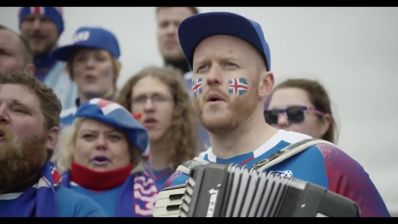 Болельщики из Исландии поют по-русски Калинка-Малинка