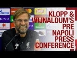 Liverpool's Champions League press conference v Napoli | Klopp & Wijnaldum