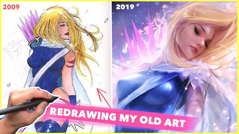 REDRAWING MY OLD ART! (800k!)