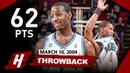 Throwback: Tracy McGrady EPIC Career-HIGH Full Highlights vs Wizards 2004.03.10 - 62 Points!