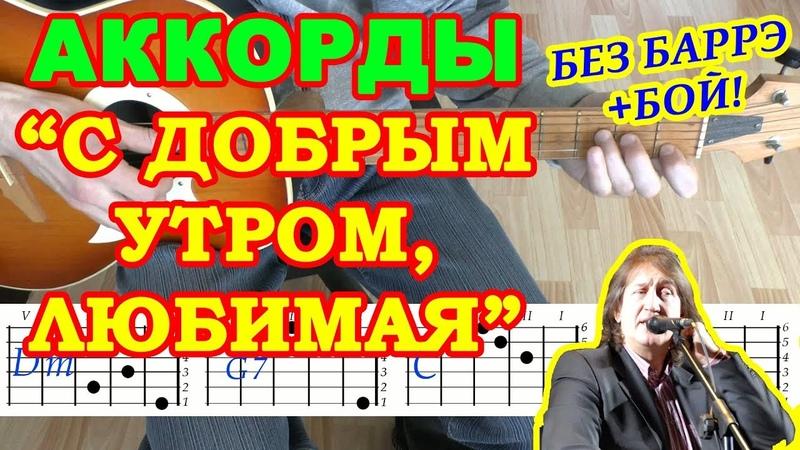 С добрым утром Любимая Аккорды ♪ Олег Митяев ♫ Разбор песни на гитаре 🎸 Бой Текст