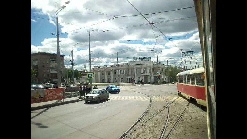 На 10-м маршруте трамвая (СМЕ 2329-2327) 31.05.2017...