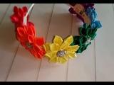 🌸ЯРКИЙ ЛЕТНИЙ ВЕНОЧЕК 🌸/ribbon wreath/MK NOSOVA