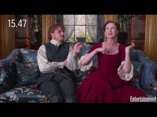 Watch sam heughan, caitriona balfe explain all of outlander in 30 seconds _ entertainment weekly