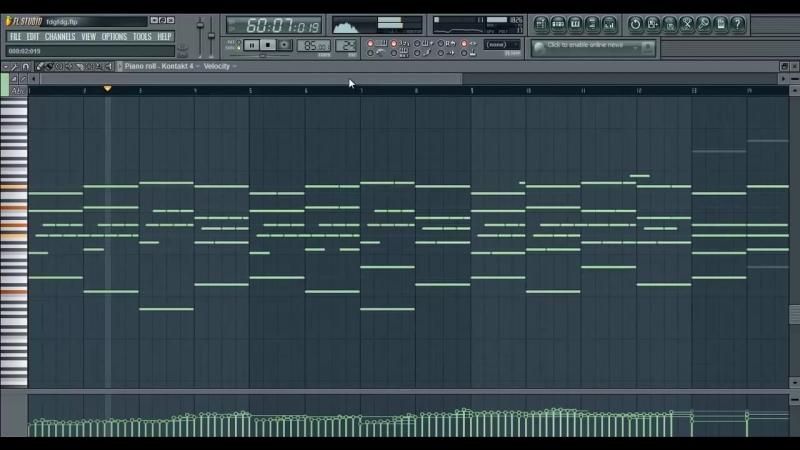 Фортепианно в FL Studio 10