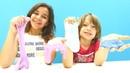 Slime videosu. Sema ve Arseny evde balçık yapıyorlar