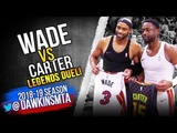 Dwyane Wade vs Vince Carter LEGENDS Duel 2018.11.03 - VC With 12, Wade With 19! FreeDawkins
