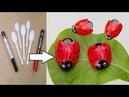 প্লাস্টিক চামচ দিয়ে দারুন আইডিয়া How to Make Ladybug out of Plastic Spoon DIY Rec