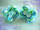 Милые бантики с бабочками канзаши/Bows with butterflies/Tutorial