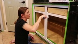 DIY PAINT KITCHEN CABINETS TOTAL KITCHEN MAKE OVER | DIY CLEAN WITH ME