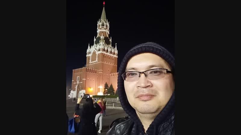 Бой Кремлёвских Курантов!😊👍 куранты краснаяплощадь москва прогулка вечер