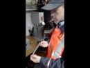 Работа жезловки на Северной железной дороге