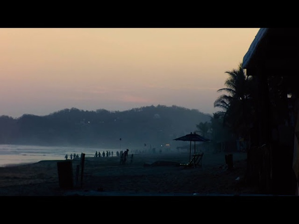 México, Oaxaca playa zipolite sun set time lapse