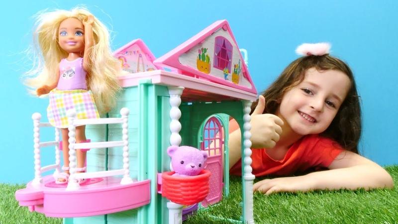 Oyuncak Barbie oyunları. Chelsea yeni ev seçiyor