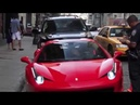 NYPD cop punches and breaks a Ferrari 458 Italy