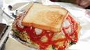 2천원짜리 대왕 토스트 big toast トースト 烤麵包 2 000KRW korean street food 창동 할머니 토스트