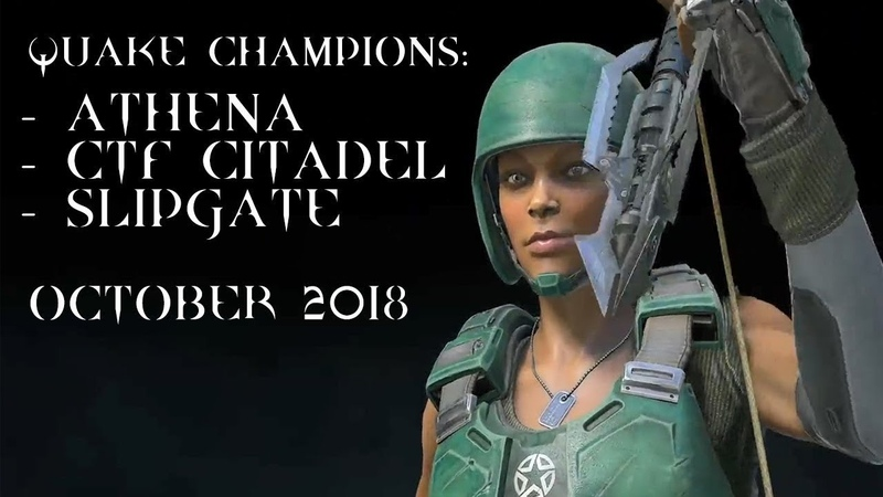 Athena new CTF map Citadel Slipgate mode – Quake Champions @ october