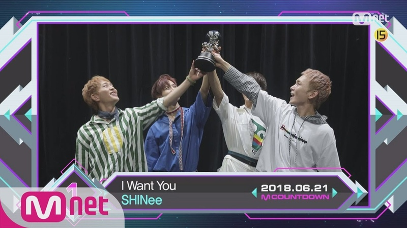 Top in 3rd of June, 'SHINee' with 'I Want You', Encore Stage! (in Full) M COUNTDOWN 180621 EP.575