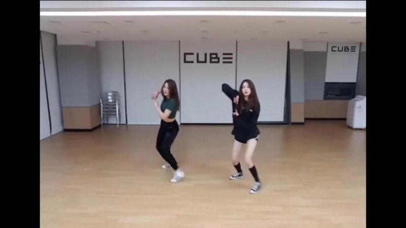 Clc (seungyeon ; yujin) dance cover by hyuna lip hip and kard - you in me and bts - dna