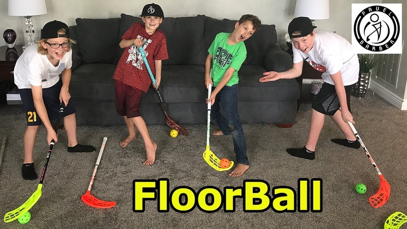Kids HocKey - Pavel Barber sends boyz surprise box filled with FloorBall Plus Sticks