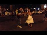 20180707 Камиль Меджидов и Александра Ельцова. Salsa Cubanа. Open Air. Астрахань.