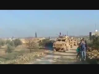 الدوريات المشتركة بين قوات مجلس منبج العسكري و القوات الأمريكية على خط الساجور هذا اليوم -