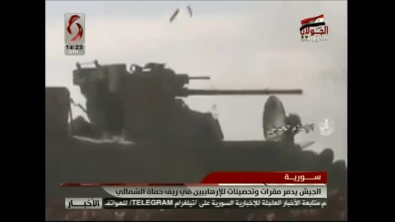 БТР-82А продемонстрировали огневую мощь в боях в районе Хамы