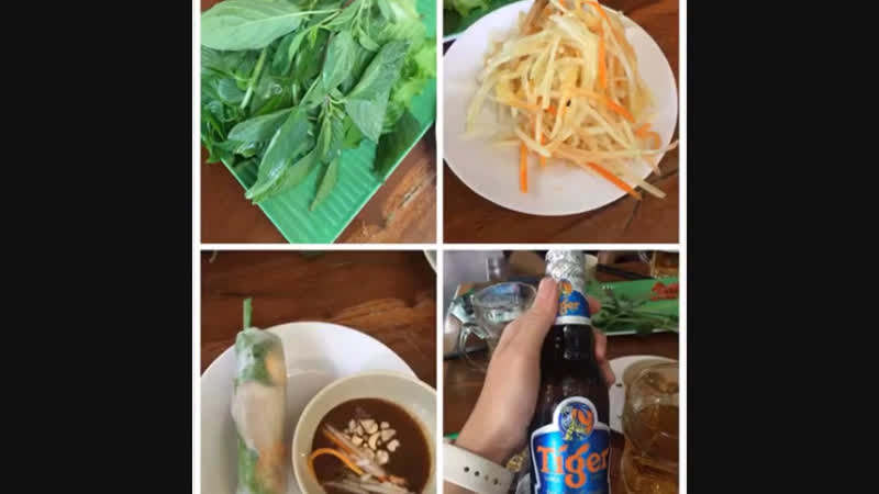 What makes me impressive in my Vietnam trip. vietnam tigerbeer springroll motorc