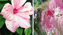 Oil Painting Timelapse | Hibiscus with water drops