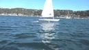 Лазер парит над водой Laser that foils