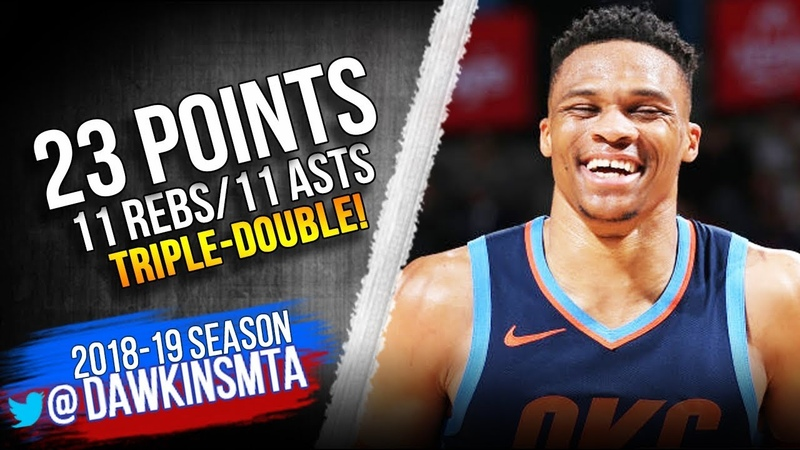 Russell Westbrook Triple Double 2019 02 28 Thunder vs 76ers 23 Pts 11 Rebs 11 Asts FreeDawkins