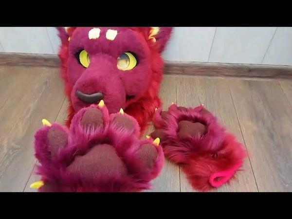 Fursuit Dante paws by Angel_Tigress